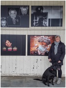 """5th Apr 2021 - Me and Sadie under my image (top right) which I titled """"Time Stands Still"""" as that is how I feel the past year has felt!"""