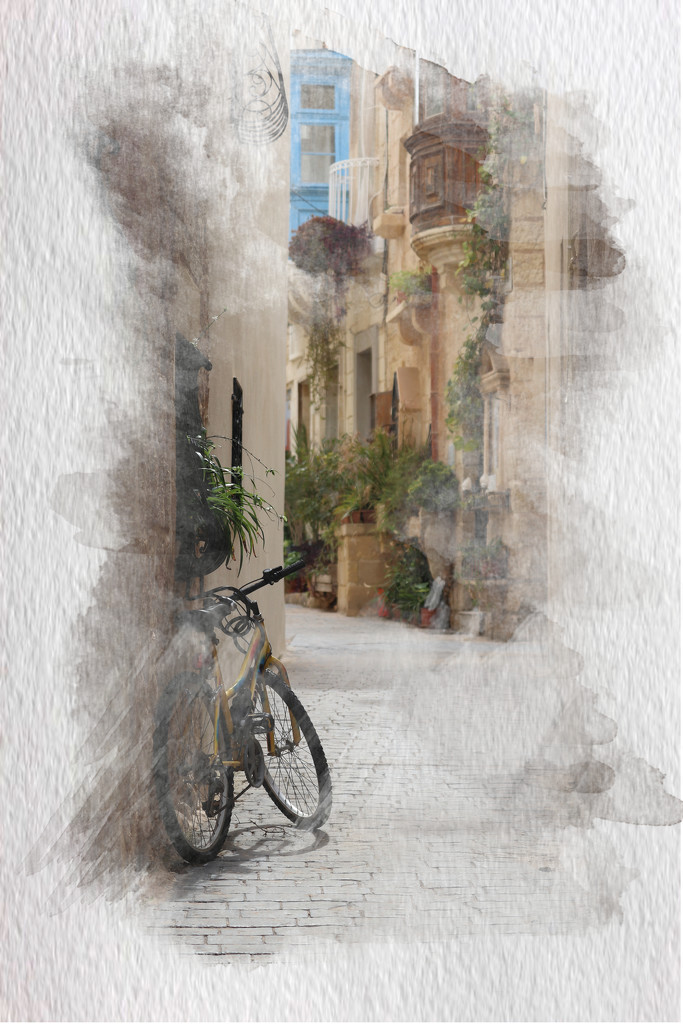 bicycle in lane by elza