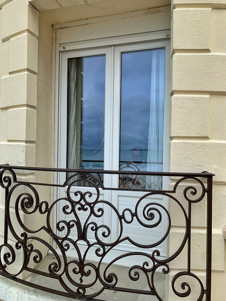Black heart on a balcony.  by cocobella