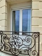 8th Apr 2021 - Black heart on a balcony.