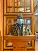 6th Apr 2021 - Masked statue.