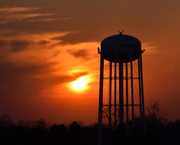 7th Apr 2021 - Water Tower Sunset