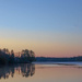 Another sunrise on Estes Lake but with a crescent moon by joansmor