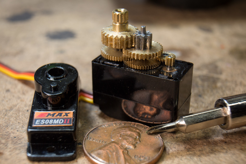 Servo Motor, with penny for scale. by batfish