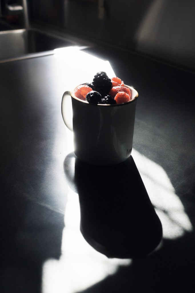Berries in a cup (to go on my breakfast yoghurt) by cristinaledesma33