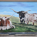 Longhorns Mural In Plains, Montana