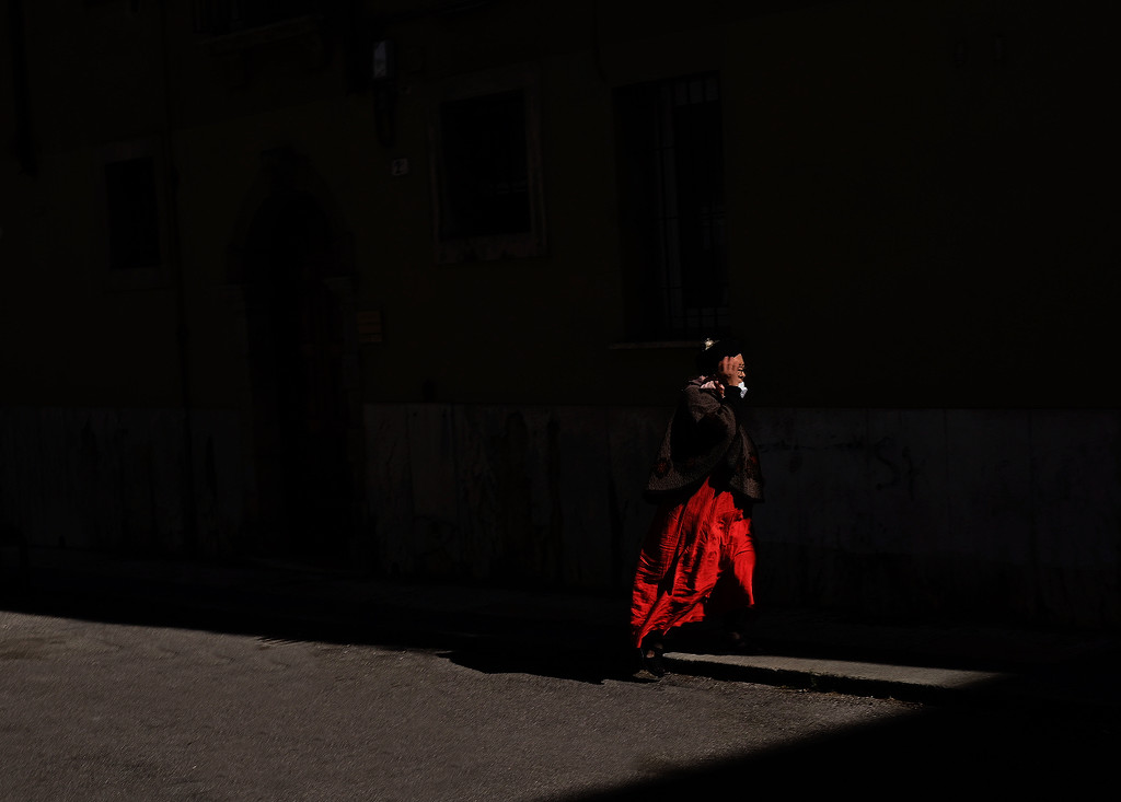 The red dress by caterina