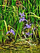 9th Apr 2021 - Irises by Van Gogh 2