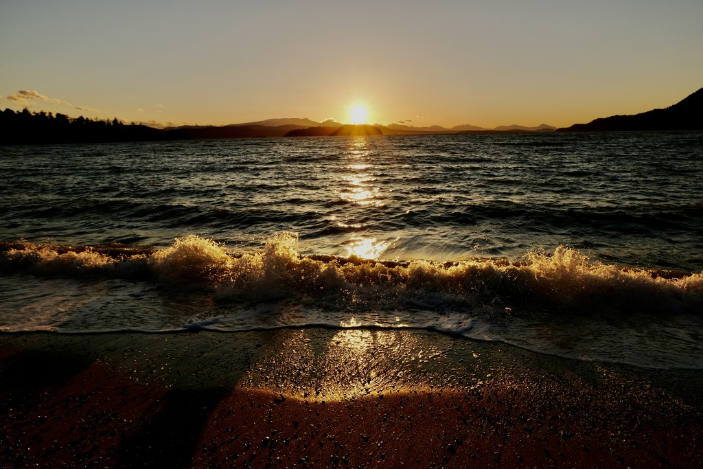Sunset beach walk by yoland