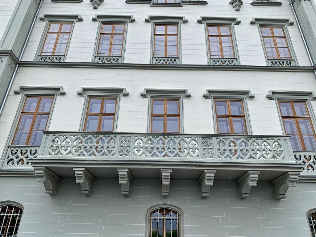 Balcony with plenty of hearts.  by cocobella