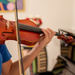 Praciticing violin