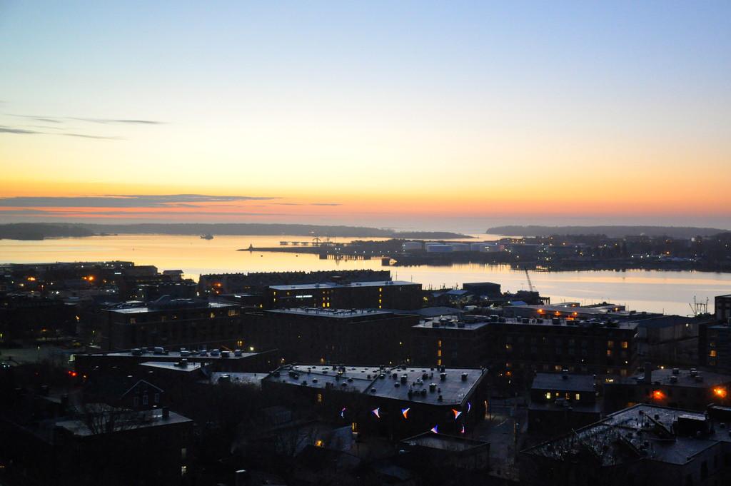Sunrise over Portland, ME by sailingmusic