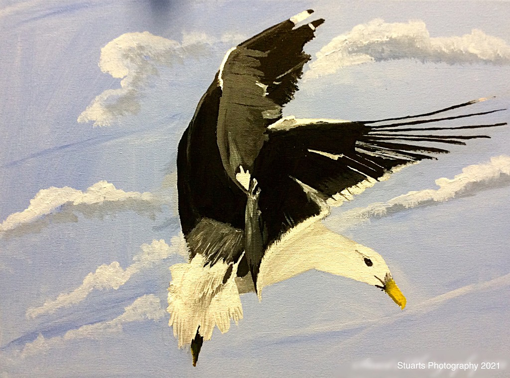In flight (painting) by stuart46