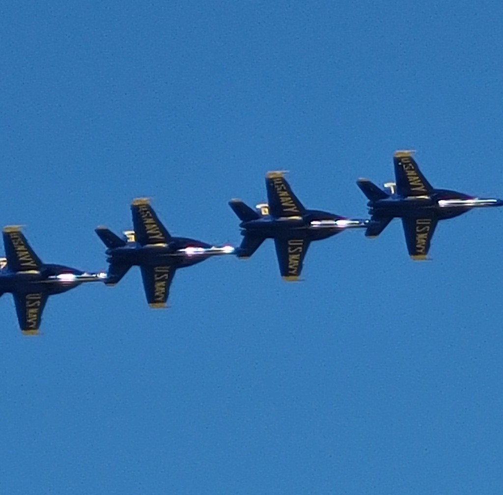Blue Angles in Flight by photograndma