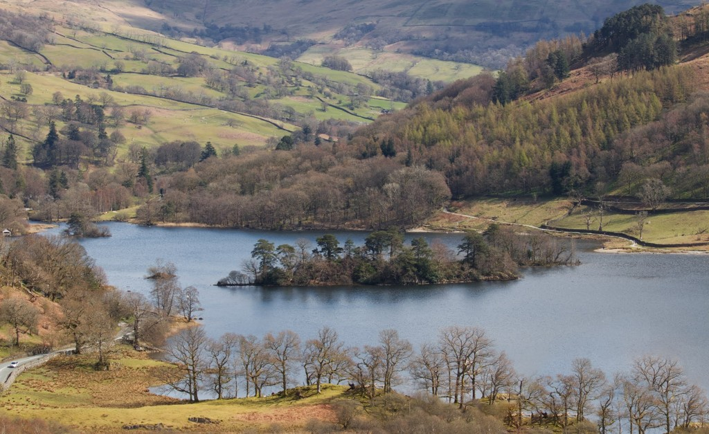Rydal Water from a different viewpoint - you can see the car in the bottom left hand corner to get an idea of scale! by lyndamcg