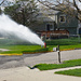 Flushing the fire hydrant