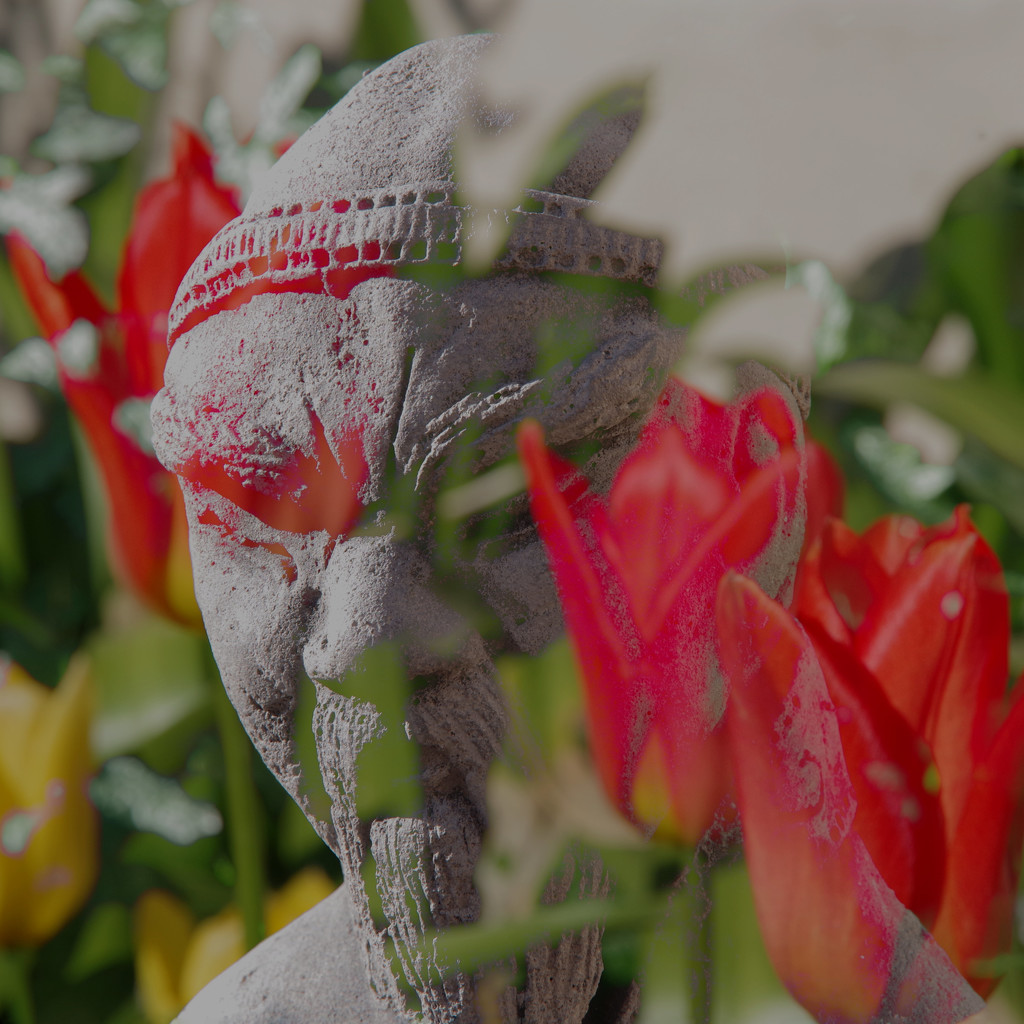 Buddah in the Tulips by 30pics4jackiesdiamond