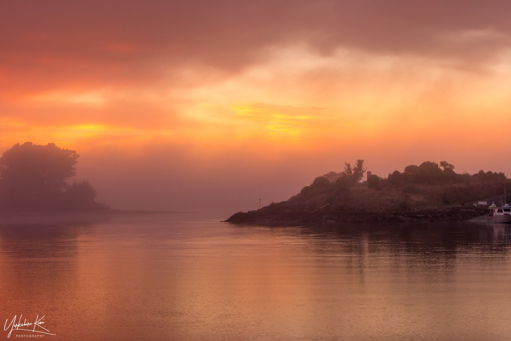 Misty Sunrise by yorkshirekiwi