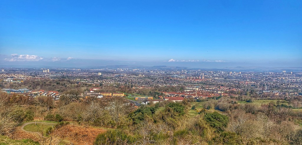 Cathkin Braes View Over Glasgow by alicats