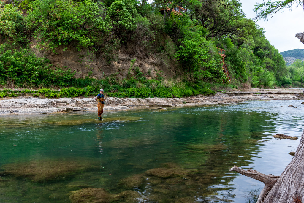 Fly fishing on the Guadalupe by johnnychops