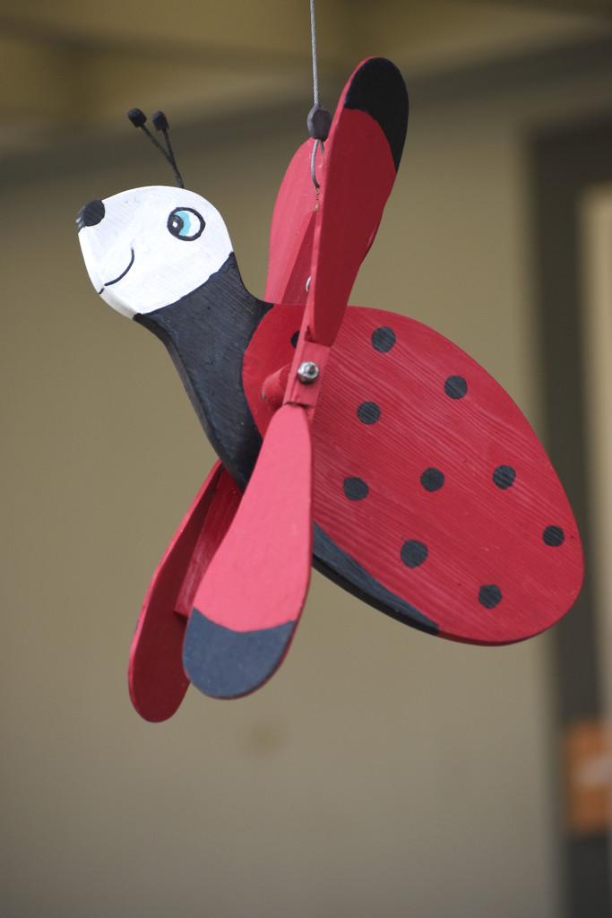 Ladybug Whirligig by bjywamer