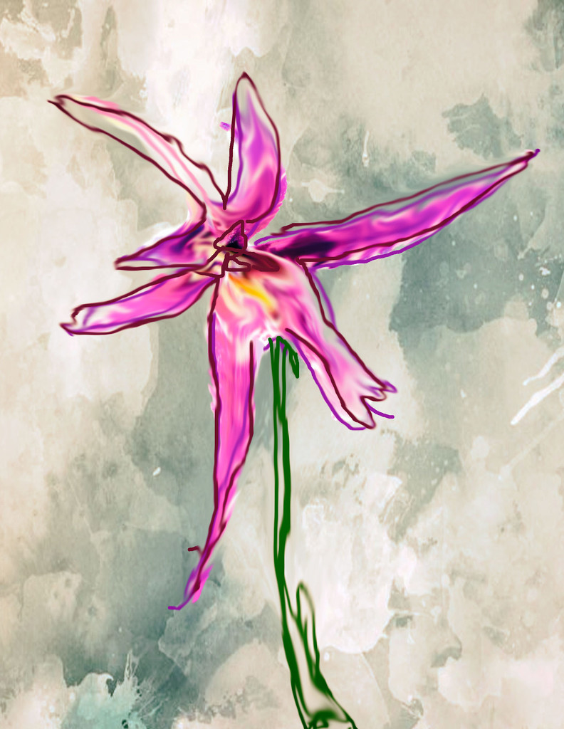 Artist Challenge Colin McCahon - orchid by annied