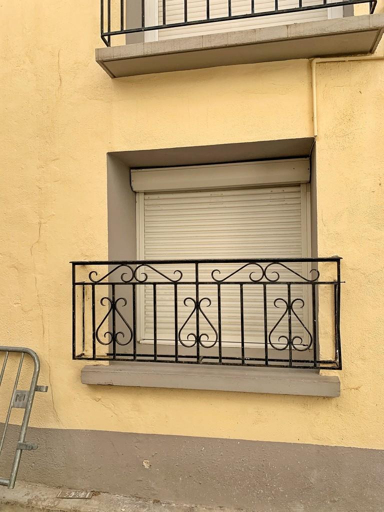 Three hearts on a balcony.  by cocobella