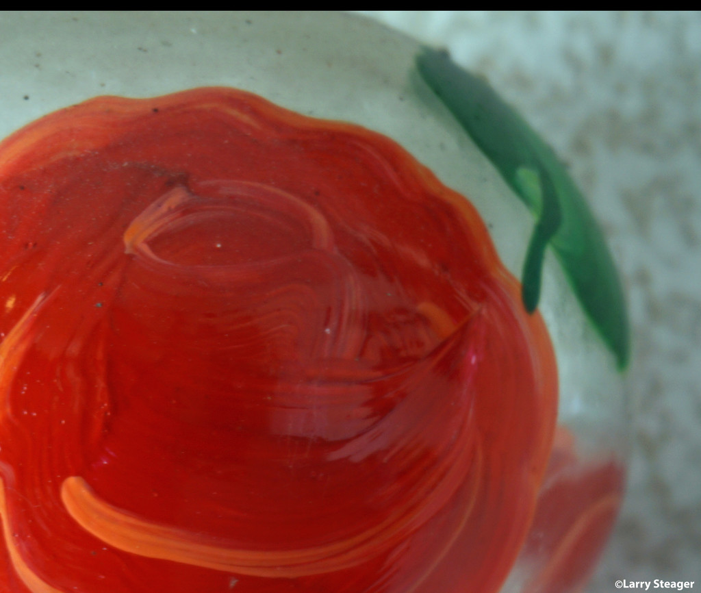 Hand painted rose by larrysphotos
