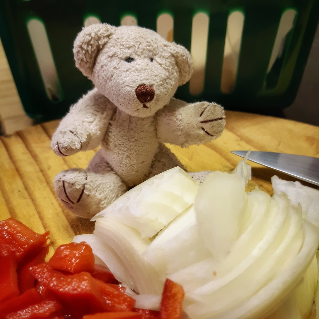 Chopped onions and peppers by salza