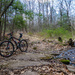 The first mountain bike ride of the year was a muddy one.