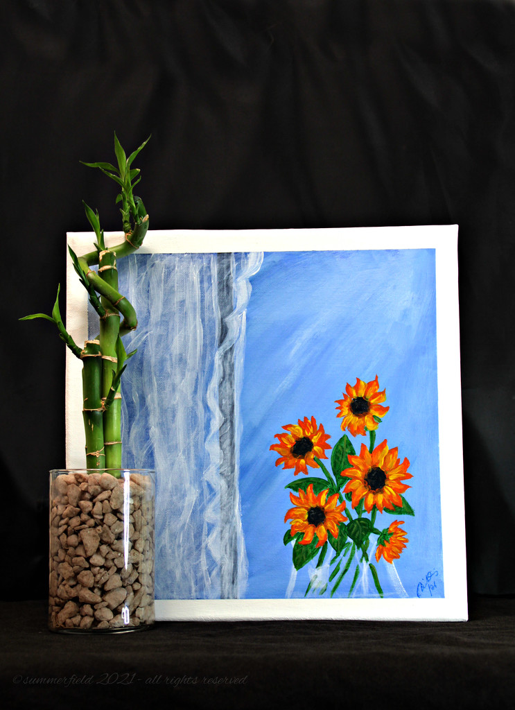 sunflowers by the window by summerfield