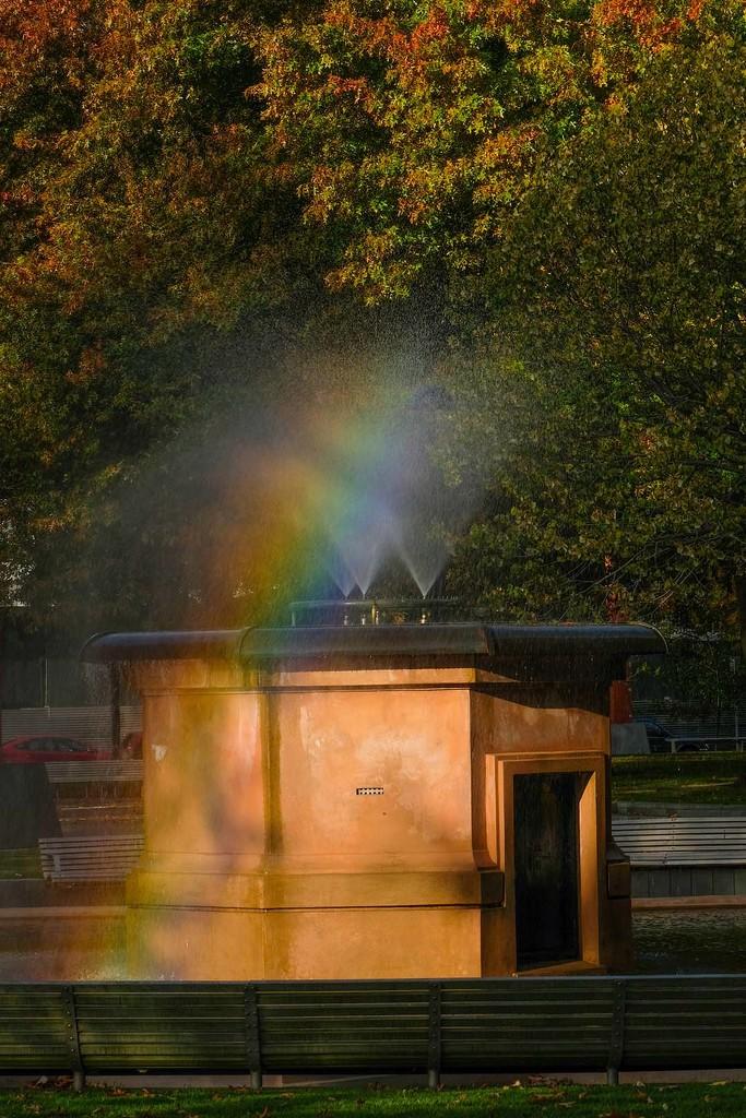 Rainbow fountain by maureenpp