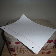 21st Apr 2021 - Paper #6:  Lined 3-Ring Paper