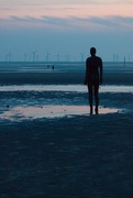 19th Apr 2021 - It's catch up time! Had a nice evening on Saturday with some fellow photographers at Formby taking pics of Anthony Gormley's Another Place- the statues go far out but as I didn't  have my wellies on could only take shots of the nearest to the promenade.
