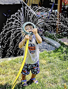 23rd Apr 2021 - The Proper Way to Wear A Sprinkler This Season