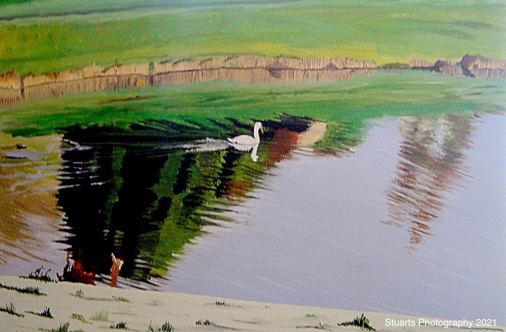 Tranquility (painting) by stuart46