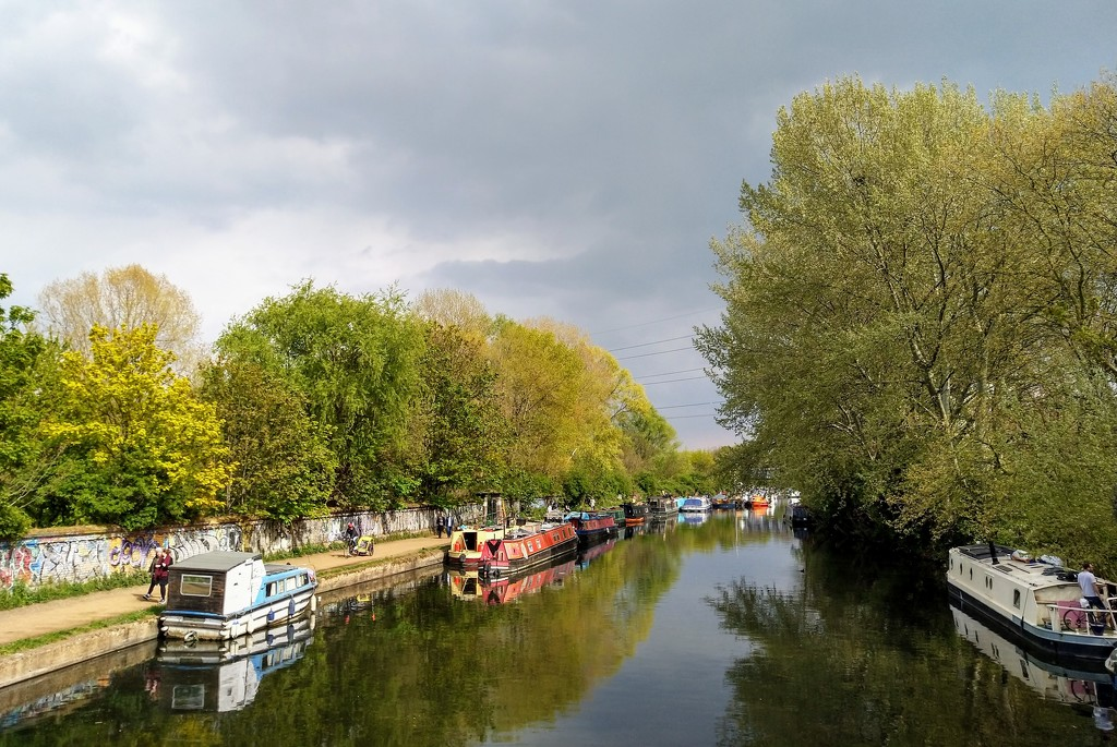 Clouds over the River Lee Navigation by boxplayer