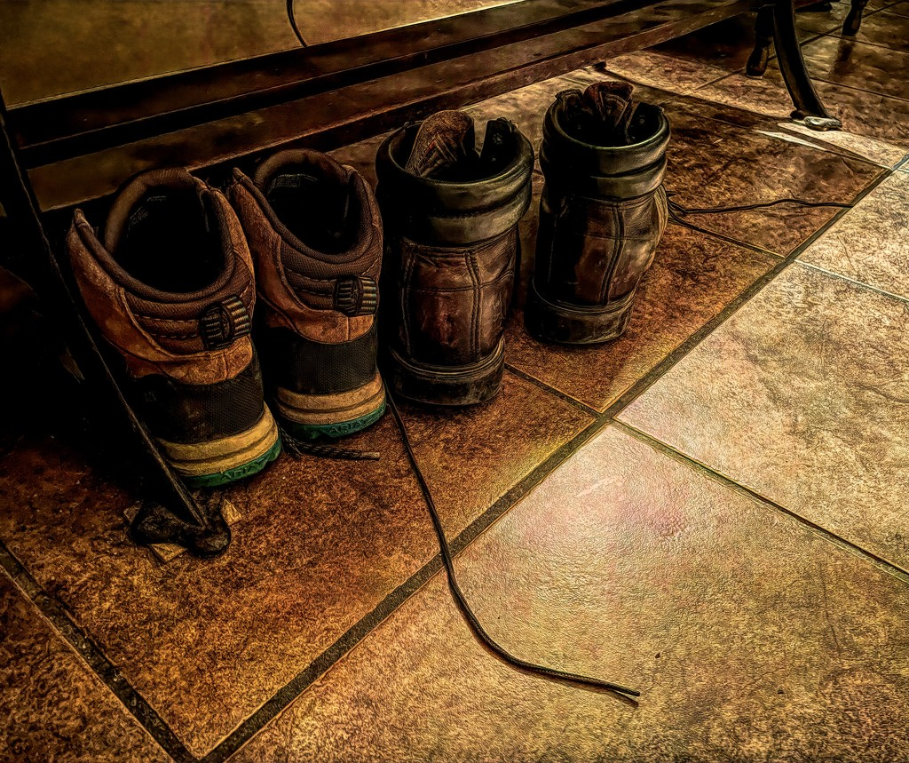 These boots were made for workin' by samae