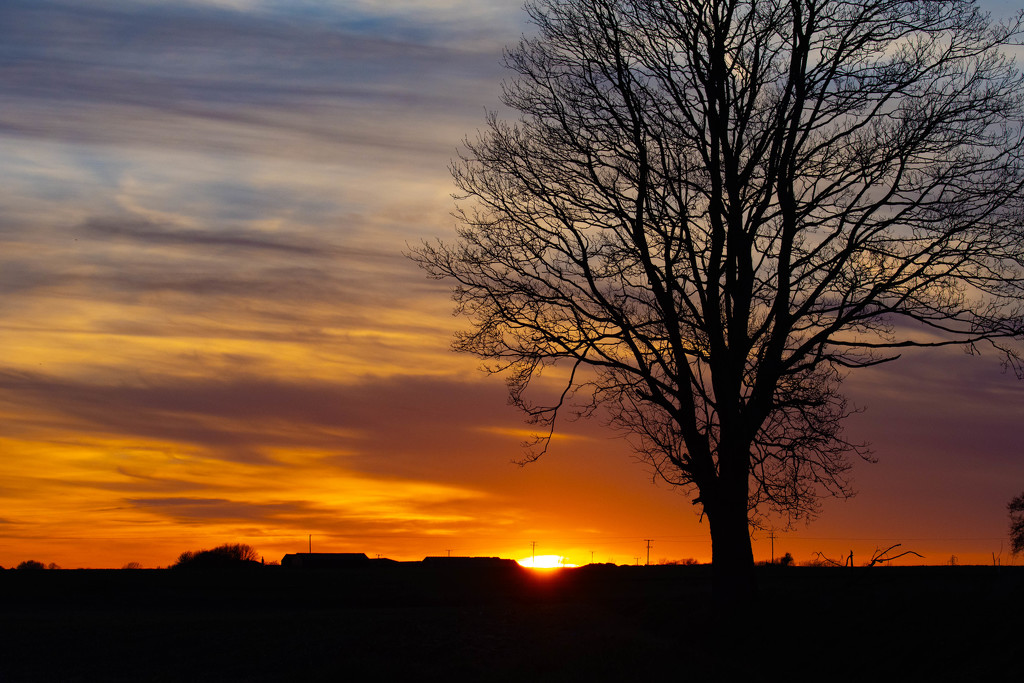 countryside sunset by stevejacob