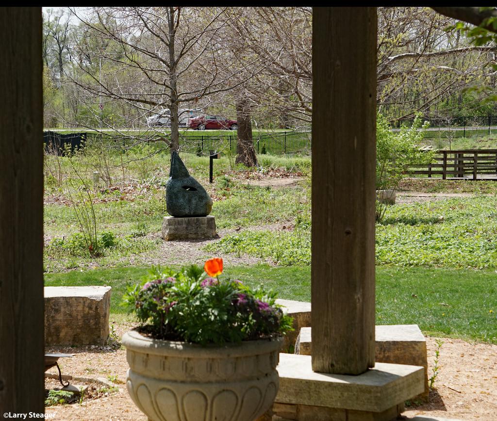Prairie vista and sculpture garden. by larrysphotos