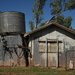 Water tank and shed at Bowra