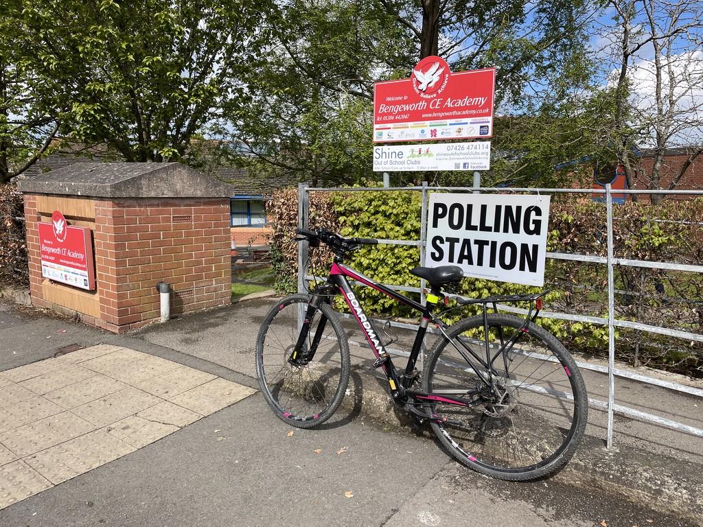 #BikesAtPollingStations by photopedlar