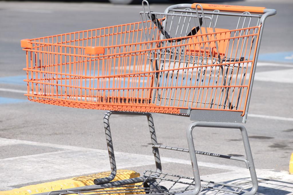 Just An Orange Shopping Cart! :-) by bjywamer