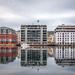 Bergen harbour reflections