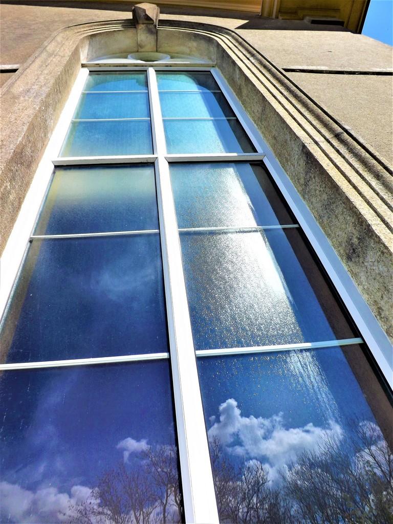 Reflection on Mr Blue Sky by ajisaac