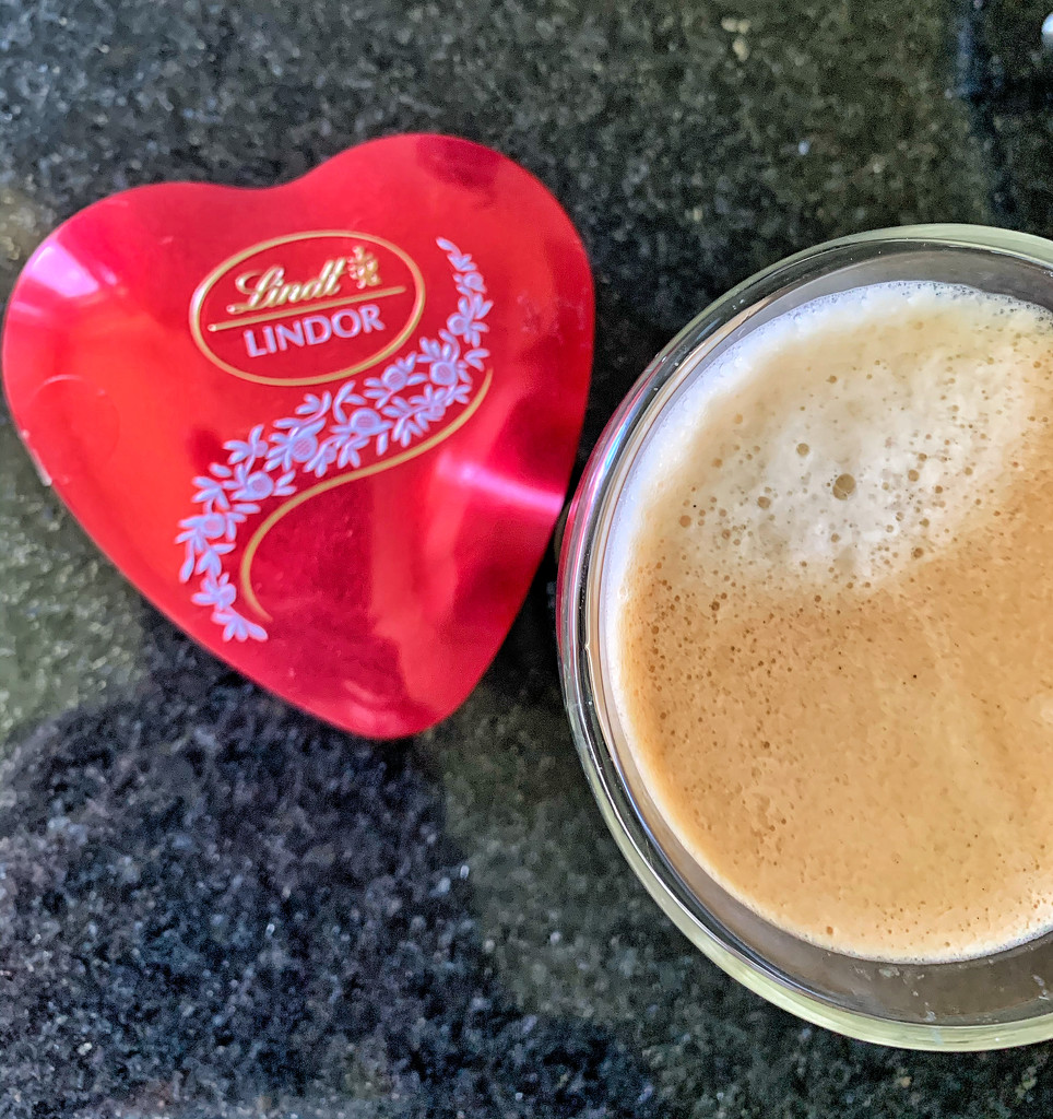 A heart and a coffee.  by cocobella