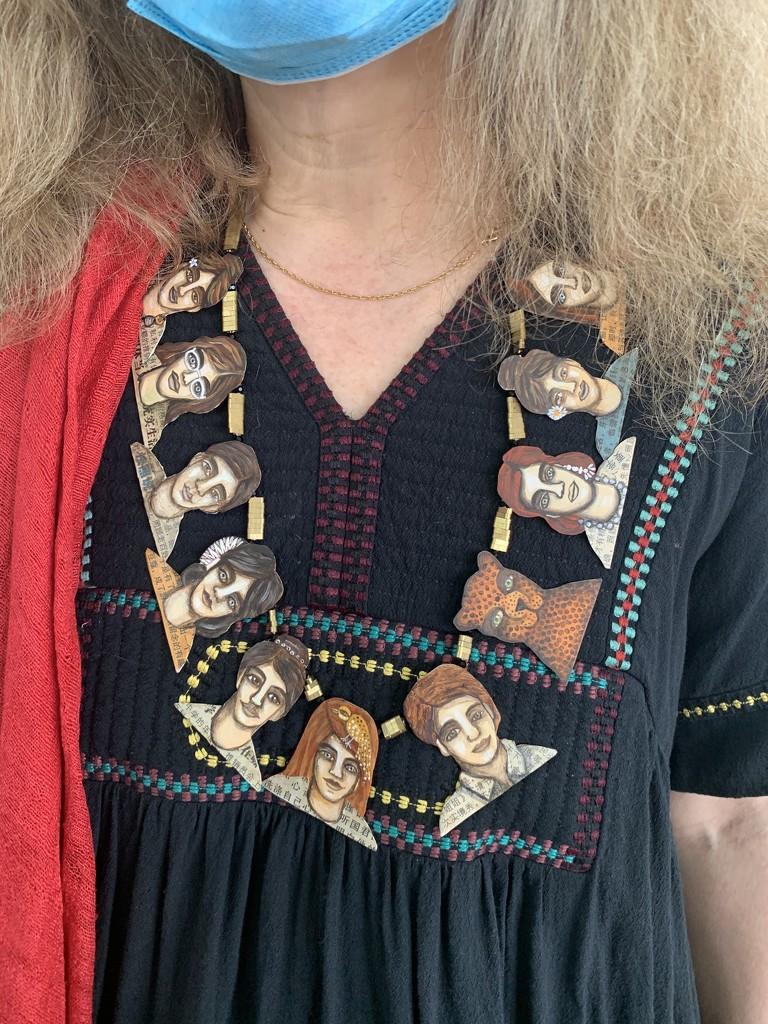 Heads necklace.  by cocobella