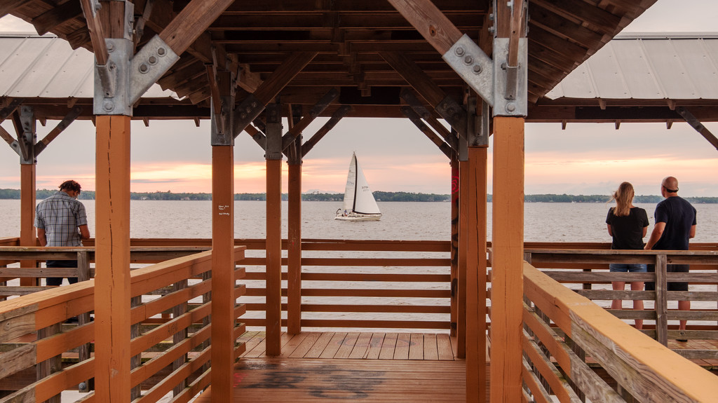 Sailboat Through the Pier! by rickster549