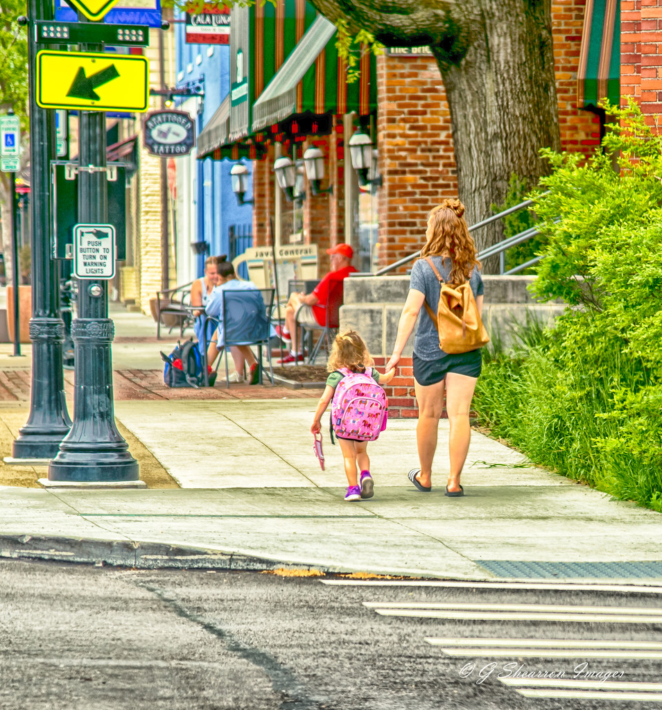 Walking uptown with Mommy by ggshearron