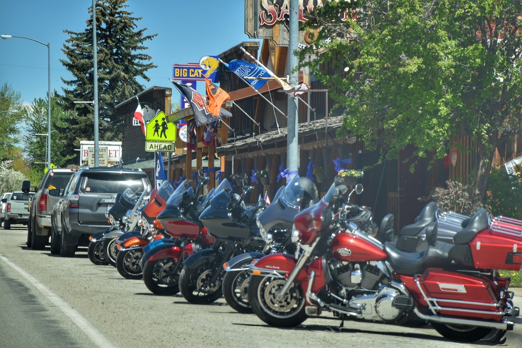 You can always find motorcycles in mountain towns by louannwarren